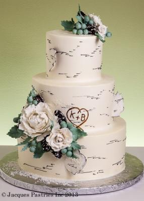 A new take on the popular birch tree cake!