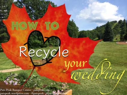 wedding recycle