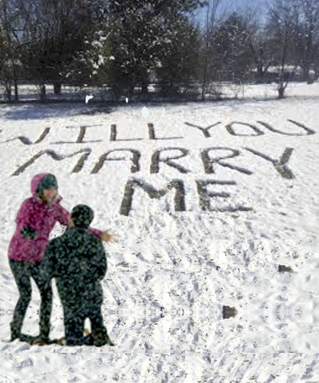 предложение за брак на Коледа