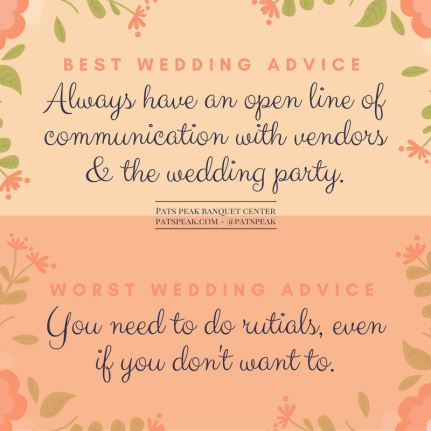 Best wedding advice (1)