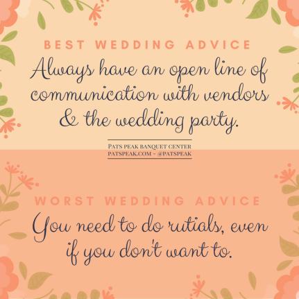 Best wedding advice (1)