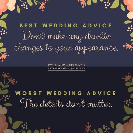 Best wedding advice